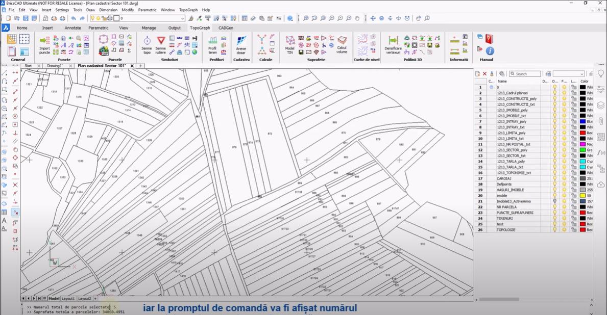 🎬 Tutorial Video - Calculul si afisarea suprafetei totale a parcelelor
