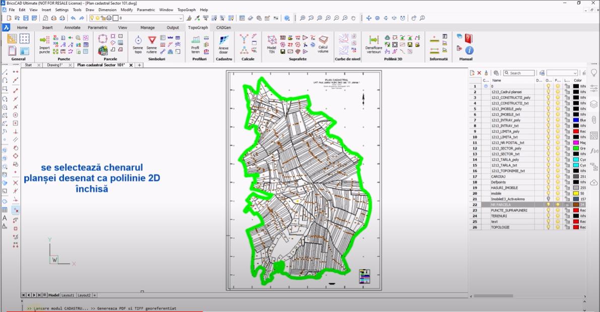 🎬 Tutorial Video - Generarea de fisiere PDF si TIFF georeferentiat cu ajutorul comenzii GEOTIFF