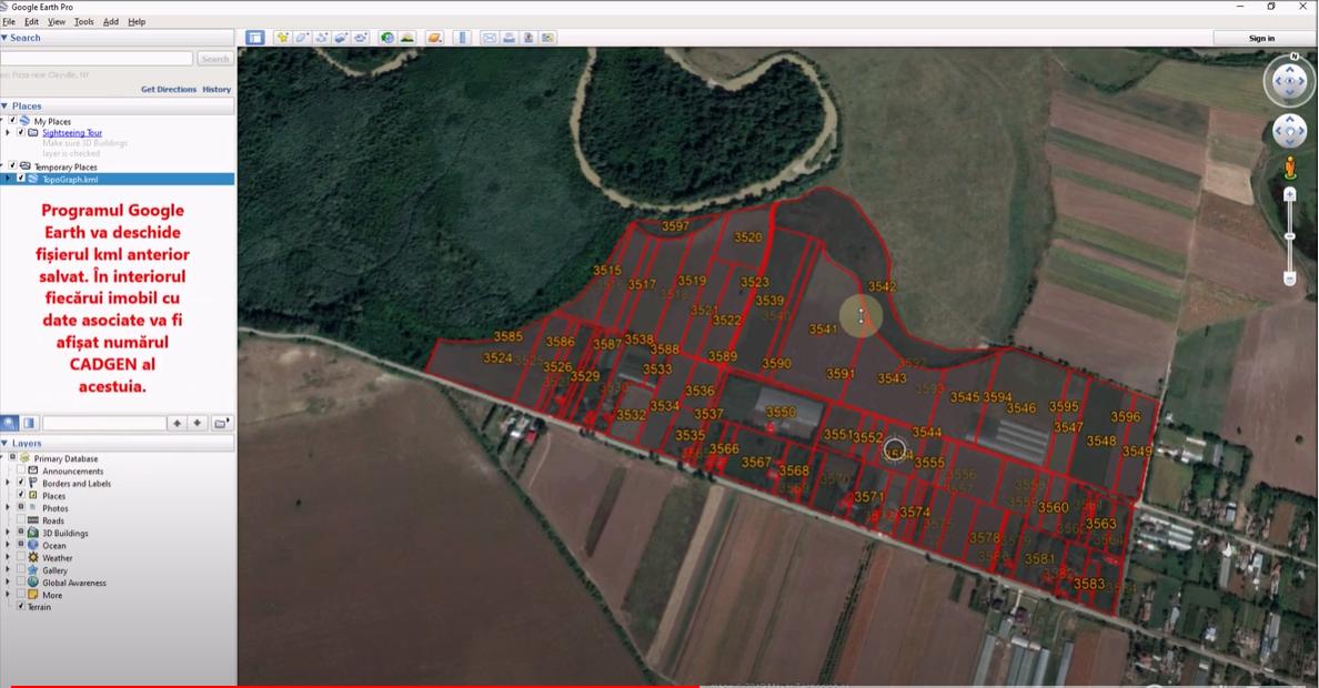 🎬 Tutorial video - Afisarea in Google Earth a imobilelor dintr-un sector cadastral și a datelor asociate acestora