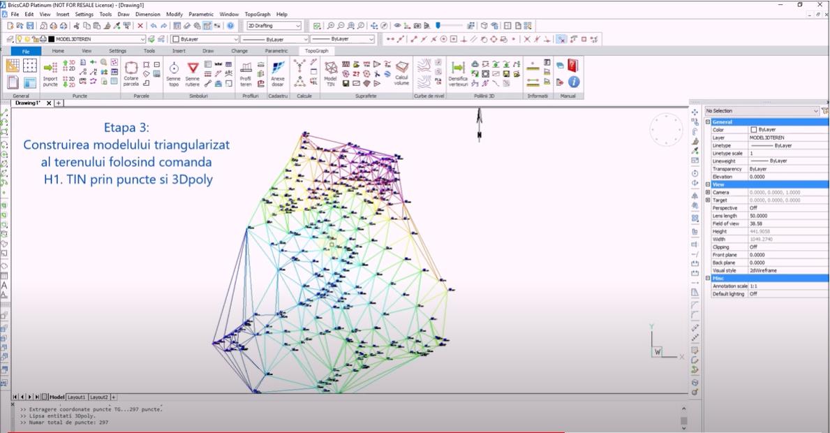 🎬 Tutorial Video - Crearea modelului 3D al terenului folosind fisiere de coordonate xyz